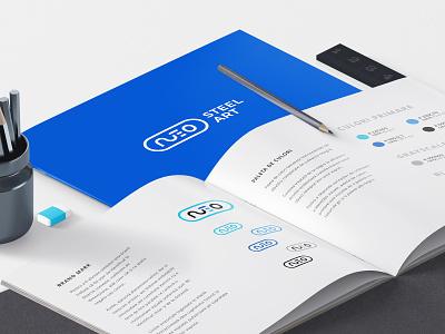 Neo Steel Art Brand Identity Guide design logo visual identity graphic design logo design branding