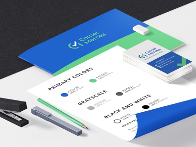 Cornel Mercea Brand Identity Guide colors logo visual identity graphic design logo design branding