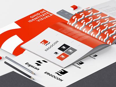 Ergocon Brand Identity Guide design logo visual identity graphic design logo design branding