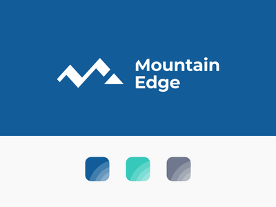 Mountain Edge Branding design logo visual identity graphic design logo design branding