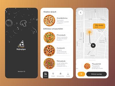 TelePizza restaurant App mobile app design mobile app mobile ui light ui minimal trend logo illustration design ux uiux app ui pizza shop delivery app online delivery pizza app online resturant app pizza resturant