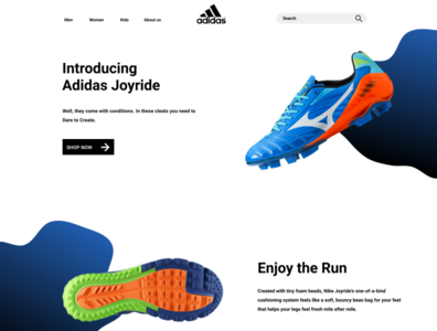 Adidas New website visual design simple layout adidas visual design website layout product design adidas ui visual design