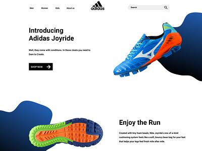 Adidas New website visual design simple layout adidas visual design website layout product design adidas ui visual design