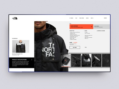The North Face Jacket - Product page concept