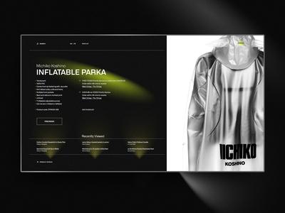 Designer Garment - Product Page Design