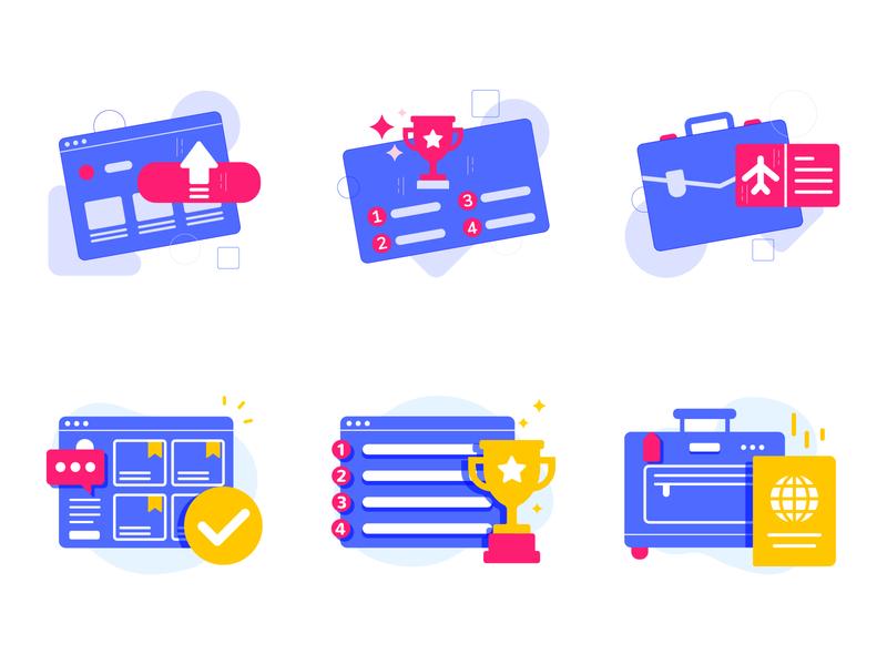 meriSTEM@NIE Competition Website Icons illustration web ui icon