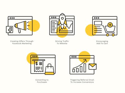 Digital Marketing Strategy Icons digital marketing web icon ui