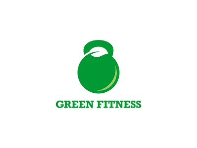 Green Fitness Logo Concept