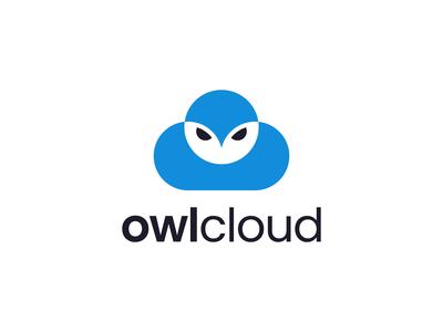 Owl Cloud Logo Concept