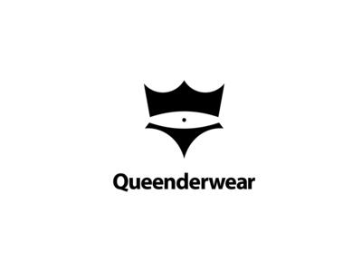 Crown or Queen with Underwear Logo Concept