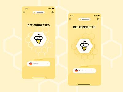 VPN app project web ios bee vpn app app design