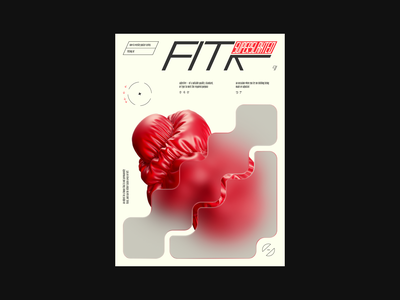 fix poster 3d graphic design