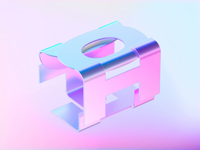 holo greetings animation motion c4d octane holographic typogaphy 3d