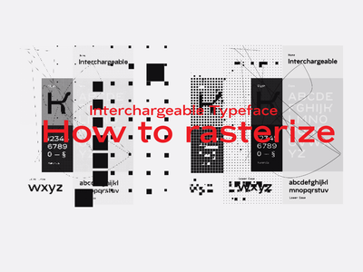 Interchargeable Typeface Specimen