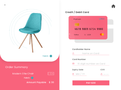 Order summary and payment view dailyui payment checkout uidesign