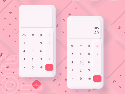 Calculator UI  Soft Design dailyui softui calculator neumorphism
