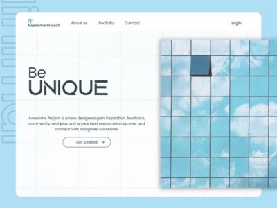 Landing page web homepage minimal landingpage dailyui