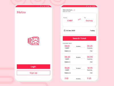 Metro Ticket Booking ux ui web train ticket ticket booking metro ticket metro