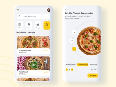 Food ordering app product design product description ux ui design food ordering