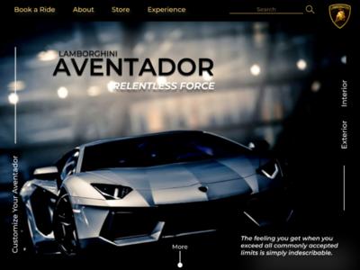 Lamborghini love design ui