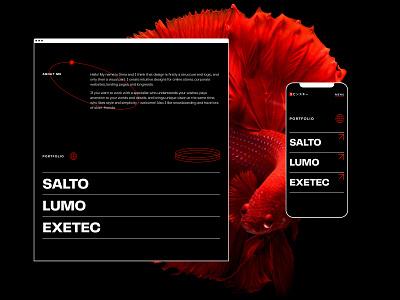Portfolio design website text design
