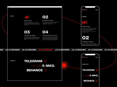 Portfolio Design website ux text design