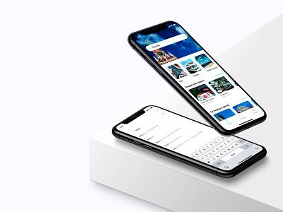 Placehunter - Mobile App UX/UI interface mobile app minimal branding design interface design concept app ui ux