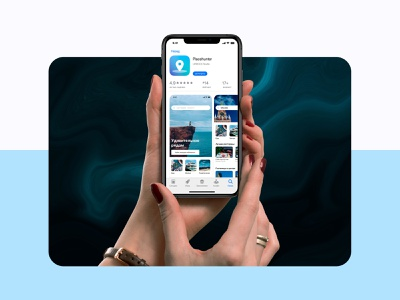 Placehunter - Mobile App UX/UI minimal interface branding app ux ui