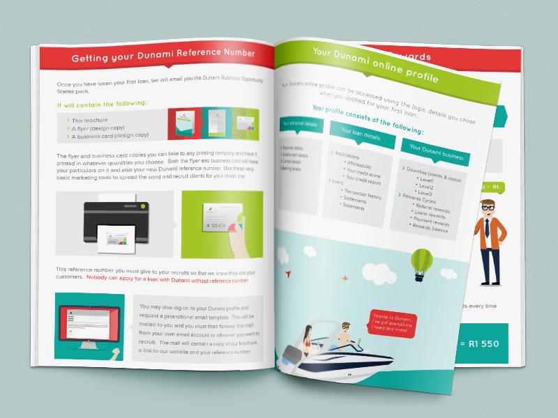 Dunami Brochure isoflow dunami brochure design illustration flat print character development