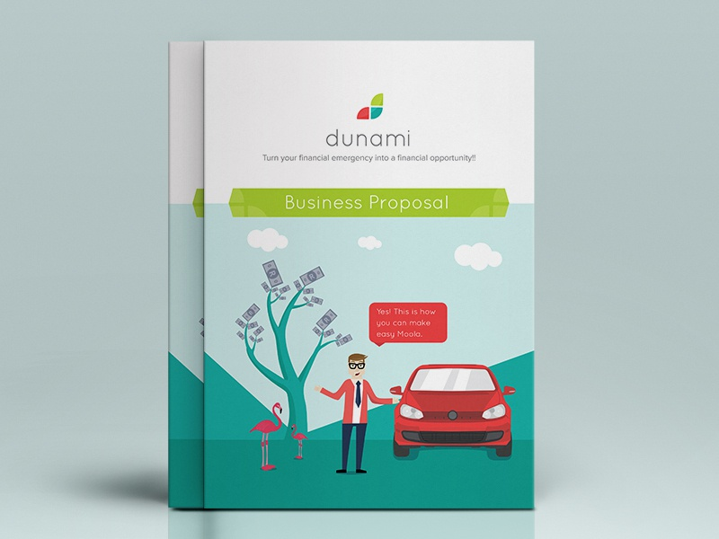 Dunami Brochure Cover isoflow dunami brochure design illustration flat print