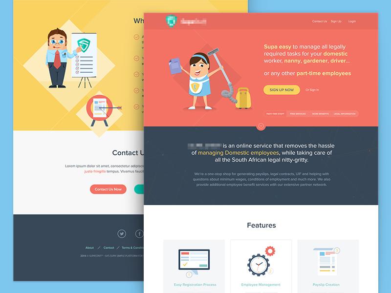 Supastaff Landing Page