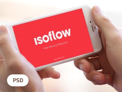 *Freebie* iPhone 6 plus landscape isoflow mobile freebie mockup resource design ui