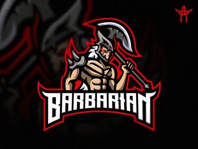 Barbarian Mascot Logo