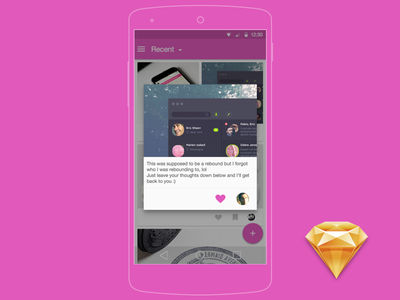 Dribbble Client Concept[Sketch][Freebie] freebie sketch android dribbble material design flat client