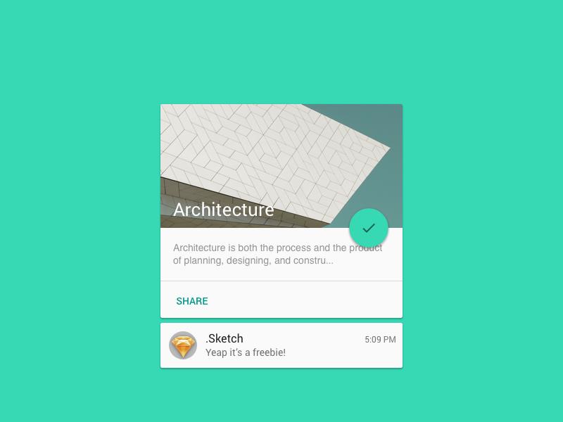 Material Card [freebie] material design sketch freebie
