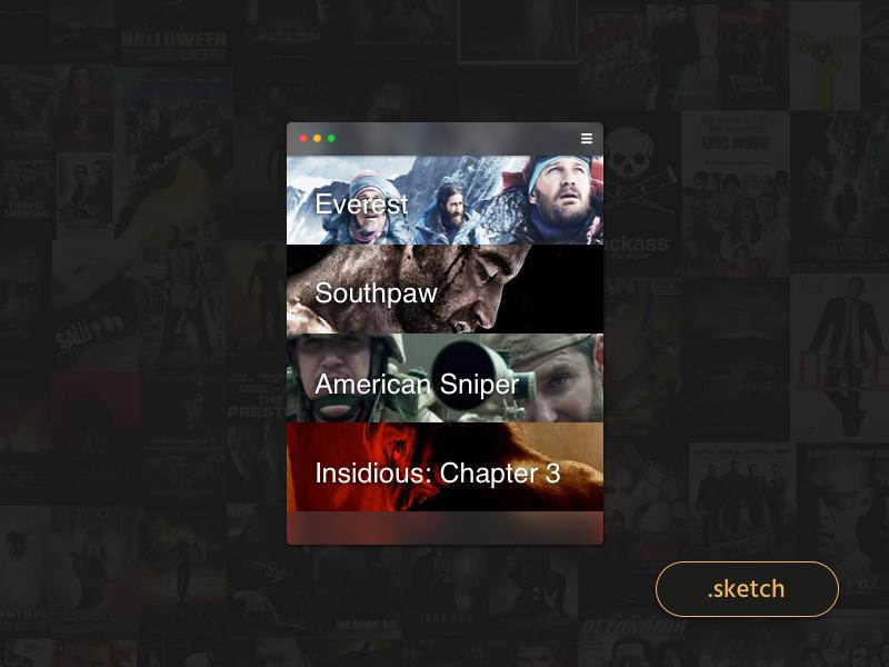 Movie List App [freebie] freebie ui app list movie