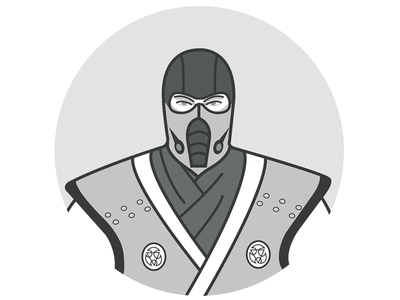 Sub-Zero character icon mortal kombat mortal kombat x game release character design icon character icon illustration sub-zero game game character warrior