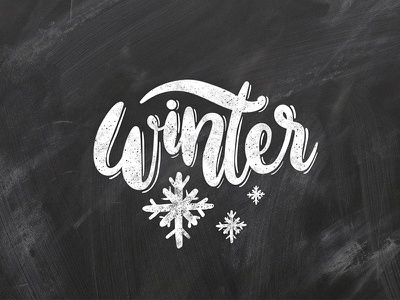 Winter chalkboard lettering black and white snowflakes winter chalkboard hand writing chalk type typography calligraphy hand lettering lettering