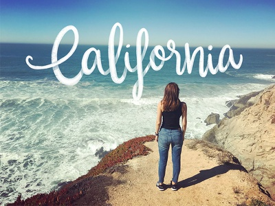 California hand lettering typography design ocean california hand writing color palette type typography calligraphy hand lettering lettering