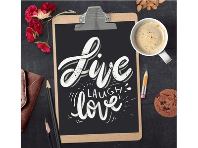 Live Laugh Love laugh love black and white chalkboard hand writing chalk type typography calligraphy hand lettering lettering