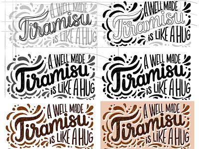 Tiramisu lettering - process sketch calligraphy hand lettering sketchbook process creative process sketch lettering foodie tiramisu