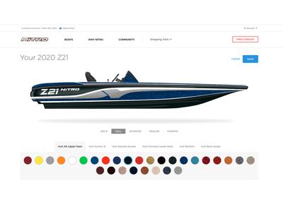 Boat Custom Color Selector