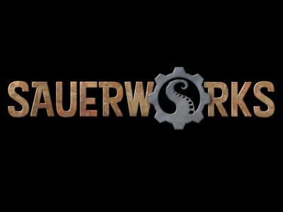 Sauerworks textured name logo