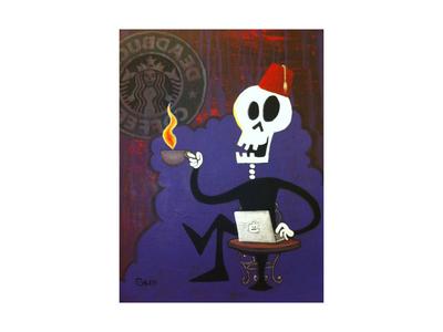 Mr. Skull at Deadbucks (painting)