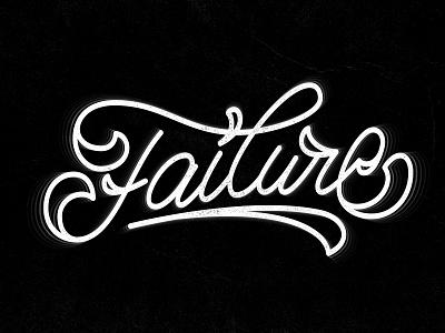 Failure failure monoline cursive sticker art logo graphic design vector illustration handwriting custom lettering design typography handlettering lettering calligraphy
