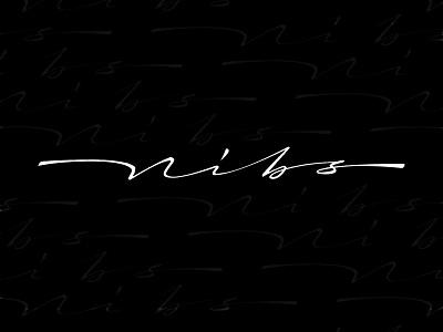 Nibs font cursive logo graphic design vector illustration handwriting custom lettering design typography handlettering lettering calligraphy