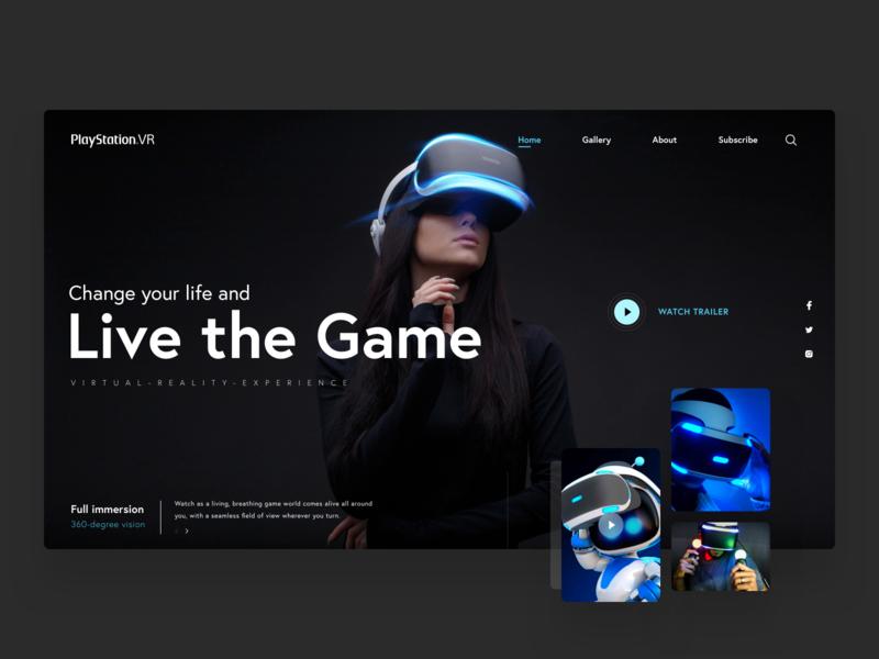 VR Webdesig Presentation for Download webdesign webinar dark vr motion app website colorful ui digital colors ux concept bitfuel illustration design
