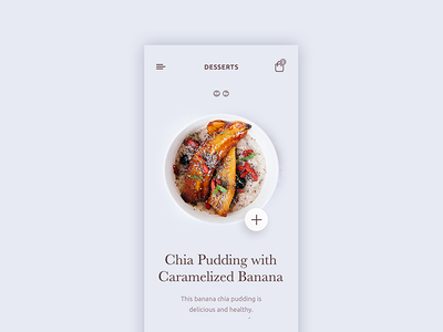 Food order concept beauty delicious restaurant application app colors ux ui concept order food