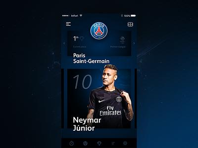 Football App Concept motion digital brand dark design ui ux football sport application app icon