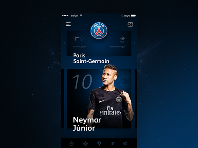 Football App Concept motion digital brand dark design ui ux football sport application app icon
